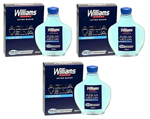 WILLIAMS Aqua Velva Après-rasage 200 ml Lot de 3