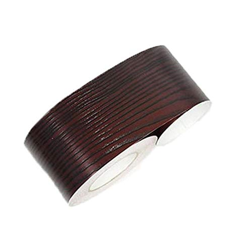 3D Behang Rand Roll PVC Zelfklevende Stick Wandranden Waterdichte Rokken Wandtaille Lijn Border Sticker DIY Home Decor Dark Red Sandalwood