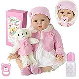 haojiaa Bebe Reborn Niña Realista Muñeca Reborn Baby Dolls Silicona Recién Nacido 22 Pulgadas...
