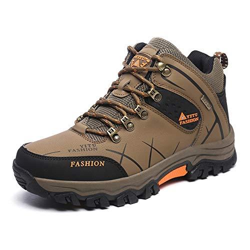 Idea Frames Herren Wanderschuhe Outdoor Sneaker Leichte rutschfeste Trainer für Trekking Camping Sportschuh Braun 43 EU (Herstellergröße: 44)