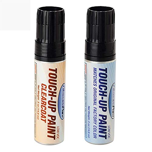 ExpressPaint Half-Ounce Jar - Automotive Touch-up Paint for Honda Accord - White Orchid Pearl NH788P - Color + Clearcoat Package