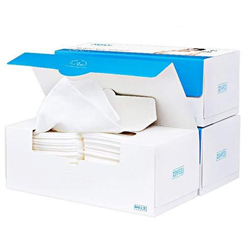 DALL Wegwerp Gezichtsdoek Niet-geweven Katoen Weefsel Nat Droog Dual-use Huidverzorging Reinigingspapier Doek Goede Flexibiliteit 80 Stks/doos