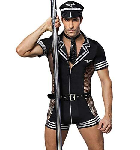 Sexy Männer Polizei Uniform Tempt Männer Bar Nachtclub Rollenspiel Kostüme Sexy Unterwäsche Mit Gürtel & Netz Für Valentinstag Nachtclub Leistung