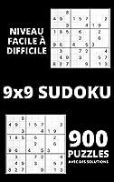 Sudoku - Niveau facile à difficile: 900 grilles de Sudoku étonnantes avec des solutions - Jeu de Sudoku pour les débutants ou les joueurs avancés - Livres de grilles de Sudoku pour adultes pour vous garder occupés et toujours concentrés