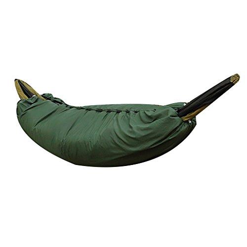 Sharplace Isomatte Underblanket für Hängematten - Hammock Underquilt (200x75cm) schützt vor Kälte von unten - Armeegrün