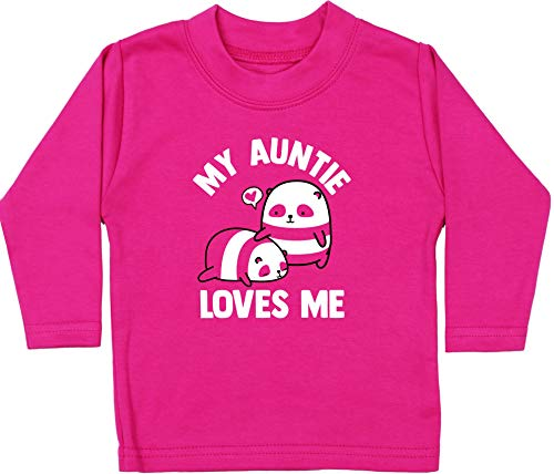 My Auntie Loves Me to The Moon and Back Baby Boy Girl Sleepsuit Made in The UK Using 100/% Fine Combed Cotton