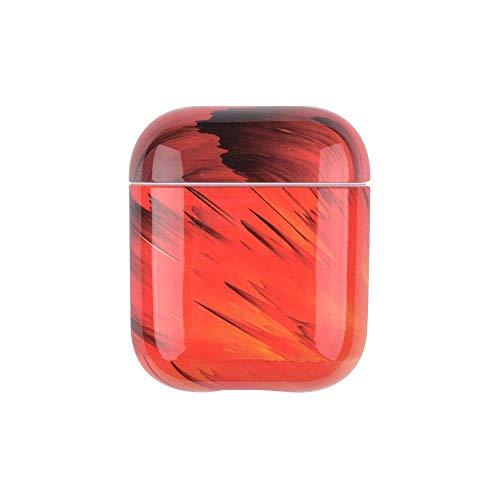 Jinghuash kompatibel med AirPods 1 & 2 skal, kompatibel med AirPods-fodral, kompatibel med AirPods skyddshölje marmor mönster mjuk TPU silikon skal väska reptåligt och stötsäkert fodral, marmor # 1