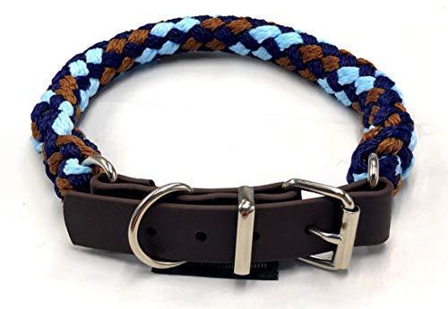 elropet BioTau Hundehalsband Afrika Tau mit Biothane Schnallenverschluß Gr. M 43-48cm