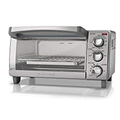 """Natural Convection Technology: The interior is designed to circulate hot air throughout the oven for fast, even results. Four Cooking Functions: Choose from convection bake, broil, toast, and keep warm. Compact Size: Easily fit a 9"""" pizza, four slice..."""