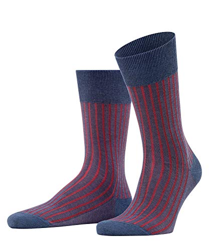 FALKE Herren Shadow M SO Socken, Blickdicht, Blau (Demin Melangen 6665), 45-46 (UK 10-11 Ι US 11-12)