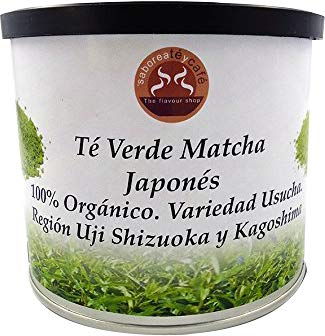 SABOREATE Y CAFE THE FLAVOUR SHOP Té Verde Natural Matcha Japonés 100% Original Grado Ceremonial Polvo Puro Infusión Adelgazante 100 gr
