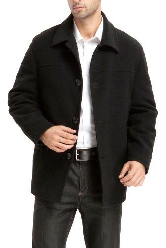 BGSD Men's Matthew Wool Blend Car Coat Black Large