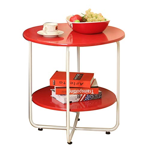 Table Basse Antidérapante Stockage Salon Canapé Table D'appoint Table Basse Table Basse Simple (Color : Red, Size : 45.5 * 45.5 * 45cm)