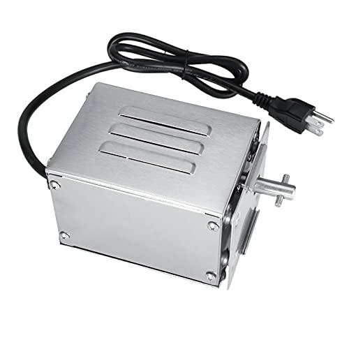 Motor de Barbacoa 50-70 KGF Motor eléctrico para asador de Barbacoa Motor de asador de Barbacoa Máquina de asado de Cerdo para Horno de Barbacoa Piezas de Chimenea(AU110V)