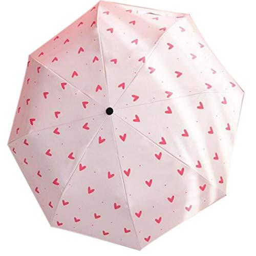 fnemo Taschenschirme,Regen UV-Sonnenschirm Winddicht Reiseschirm für Frauen Männer