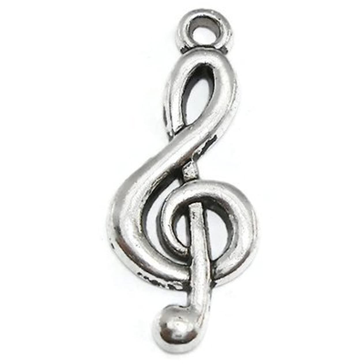 Y&Y Star 25x10mm G Clef Symbol Music Note Charms Pendant 50pcs for Crafting,Jewelry Making Accessory (Music Note 50 silver) mrpnlktqrrx96024