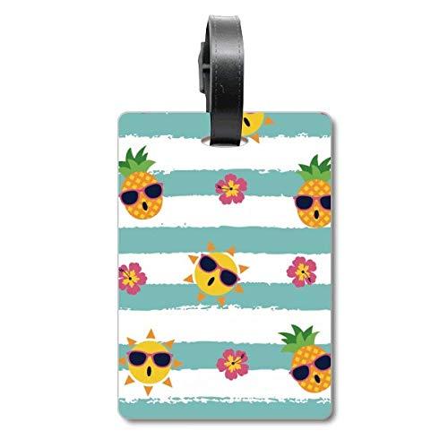 Ananas-Sonnenglas-Blume, Fluss, Kreuzfahrt, Koffer-Tasche, Reiseanhänger, Identifikationsetikett