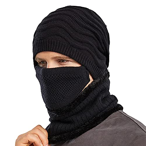 Winter Hat Men Beanie with Mask Sca…