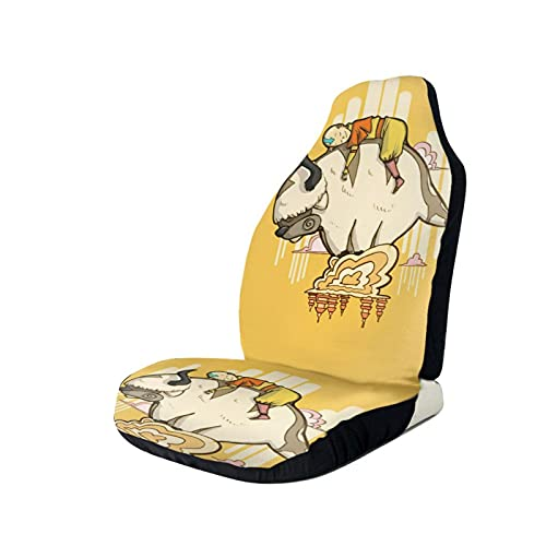 The Last Airbender Appa Auto Seat Covers, Front Seat Bucket Seat Cover, Vehicleseat Cushion Protectors Cover,Accessories Fit For Truck Van Suv 2 Pcs