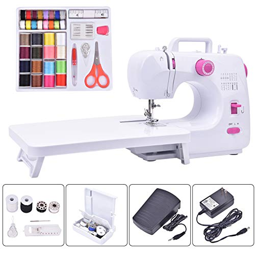 Asany Portable Sewing Machine, Household Sewing Machines with Extension Table, 16 Built-in Stitches, 2 Speeds Double Thread and 42 Pcs Sewing Kit for Women Men Adults Beginners