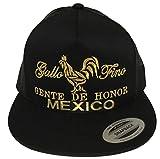 Mexico gallo fino Gente de Honor De hat Black mesh