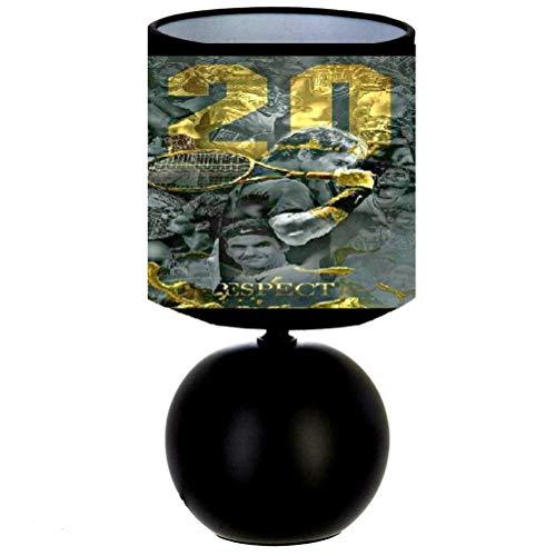Lampe de chevet TENNIS ROGER FEDERER 20 ANS DE CARRIÈRE - création artisanale