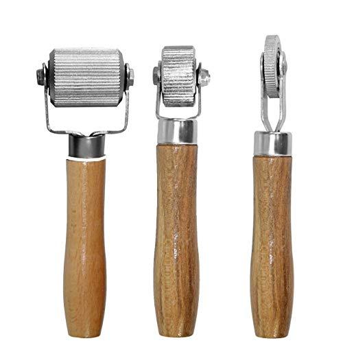 DEDC 3 st billjud nedfällande handrulle med trähandtag, ljudisolerat isoleringsverktyg för bilbuller rullande hjul interiörtillbehör
