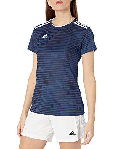 adidas Condivo 18 - Camiseta de Manga Corta para Mujer, Condivo 18 Jersey para Mujer, Mujer, Color Azul Oscuro/Blanco, tamaño Extra-Small