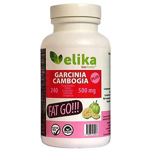 Garcinia Cambogia Plus 60% HCA, FAT GO! 240 Tabletten à 500mg , Schlankheitsbehandlung, natürliche Sättigung, koffeinfrei, ohne Zusatz von Zusatzstoffen oder künstlichen Stimulanzien.