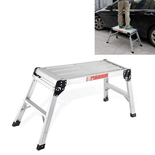Autowasaccessoires, autowasmiddel, aluminiumlegering, wasplaat, werkkruk, opvouwbaar, kruk, voertuig DLW201, 50 cm hoog