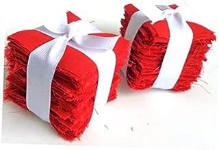 Fabric 200 Pure Red Moda Bella Solid precut Mini Charm Pack 2.5
