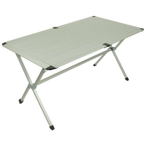 10T Alutab Trio Table de Camping Argent/Noir 140 x...