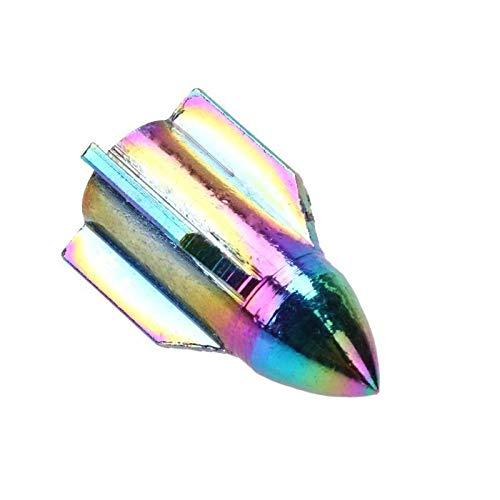 WBNCUAP Tapas De VáLvulas De NeumáTicos 4 unids CNC Aluminio Arco Iris Color Bicicleta Válvula Neumático Tapa de Polvo Tapa Bicicleta Válvula Válvula Tallo Rueda de Coche Tallo Cubiertas Accesorio