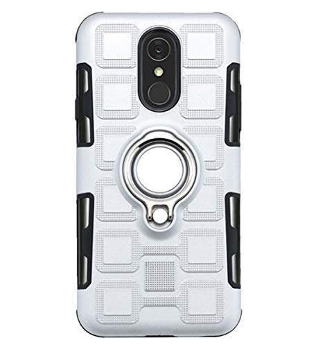 NANXCYR Für LG Q7 / Q7 aipha / V30 / Q8 / H970 / Q6 / Q6 Mini Fall, PC-TPU Invisible Ring Stoß- Anti-Fall-Abdeckung für LG stylo5 / K40 / K12 / K50,Silber,LGV30