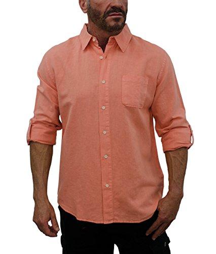 Peach Button Down Shirt