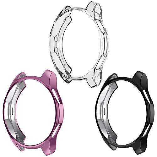 Kmasic - Custodia per Samsung Galaxy Watch 46 mm 42 mm, in Morbido TPU, Sottile Placcato, Protezione Antiurto per Galaxy Watch 46 mm SM-R800 / 42 mm SM-R810 / Gear S3 Frontier Smartwatch