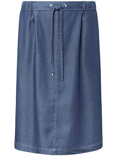 BASLER Damen Rock in Jeans-Optik mit Tunnelzugbändchen