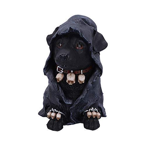 Nemesis Now Canine Dekofigur Sensenmann aus Polyresin, schwarz, 17 cm