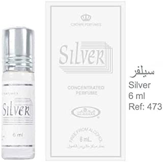 Silver - 6ml (.2 oz) Perfume Oil by Al-Rehab - 3 Pack