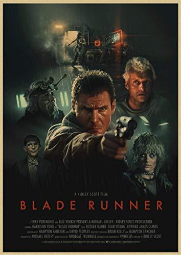 binghongcha Impresión En Lienzo Blade Runner 2049 Cartel Retro De Película Americana Cartel De Pared Impreso Pintura Decoración De La Habitación del Hogar K-28 (50X70Cm) Sin Marco