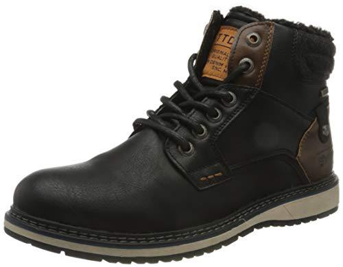 Tom Tailor Mens 9085302 Mid Calf Boot Bootie Boot, Black, 10 UK