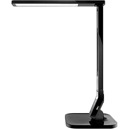 LED Desk Lamp with USB Charging Port, 4 Lighting Modes with 5 Brightness Levels, 1h Timer, Touch Control, Memory Function,14W, Official Member of Philips Enabled Licensing Program, Black