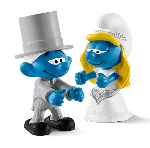 Schleich Schlumpf Hochzeit Spiel-Set Neuheiten 2017 - Schlümpfe Brautpaar - Braut 20799 Bräutigam 20796