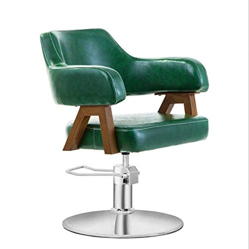 CANDYANA draaistoel bureaustoel Beauty Salon kruk rugleuning kruk verstelbare kruk in hoogte verstelbaar, donkergroen