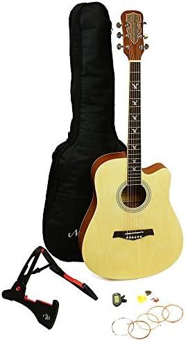 RockJam Premium Acoustic Guitar Kit with Guitar Bag Guitar Tuner Guitar Stand Plectrums Spare product image