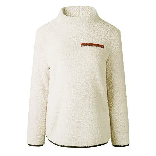 Kabxryaclo - Suéter de punto para mujer con hombros descubiertos