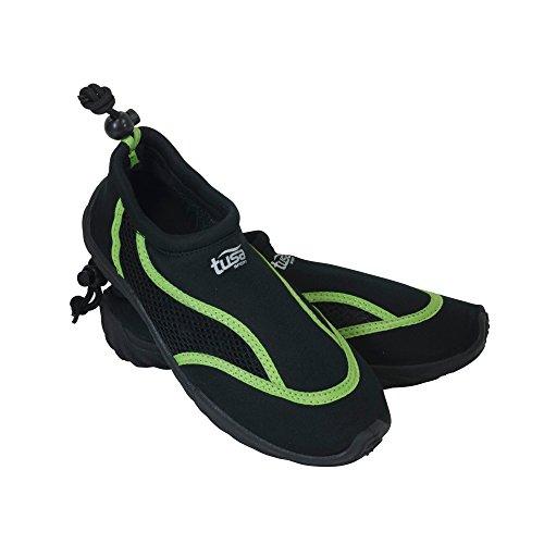 TUSA Sport Slip on Aqua Scarpe, Uomo, UA-0101-BK-8, Black/Green, 8