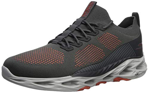 Skechers Men's GO Run Vortex - 54840 Shoe, Charcoal/Orange, 13 M US