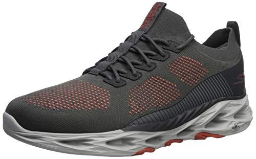 Skechers GO Run VORTEX-54840 - Zapatillas para hombre, Gris (Carbón/Anaranjado), 47 EU