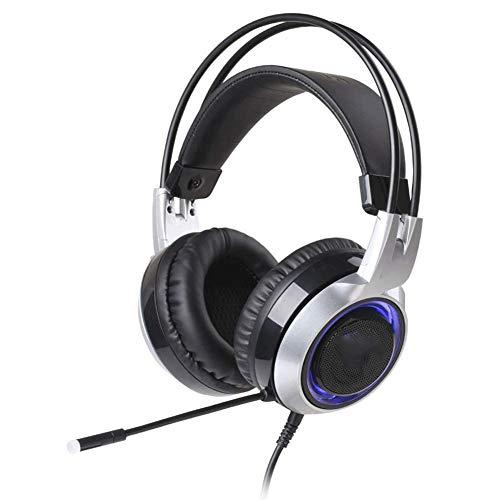 CNMD Ejecutar y Escuchar Cascos de música, Auriculares USB para Juegos, Auriculares...